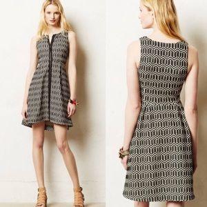Leifsdottir Anthropologie tonelle zip front dress